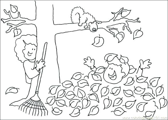 586x418 Fall Tree Printable Coloring Pages Kids Coloring Free Printable