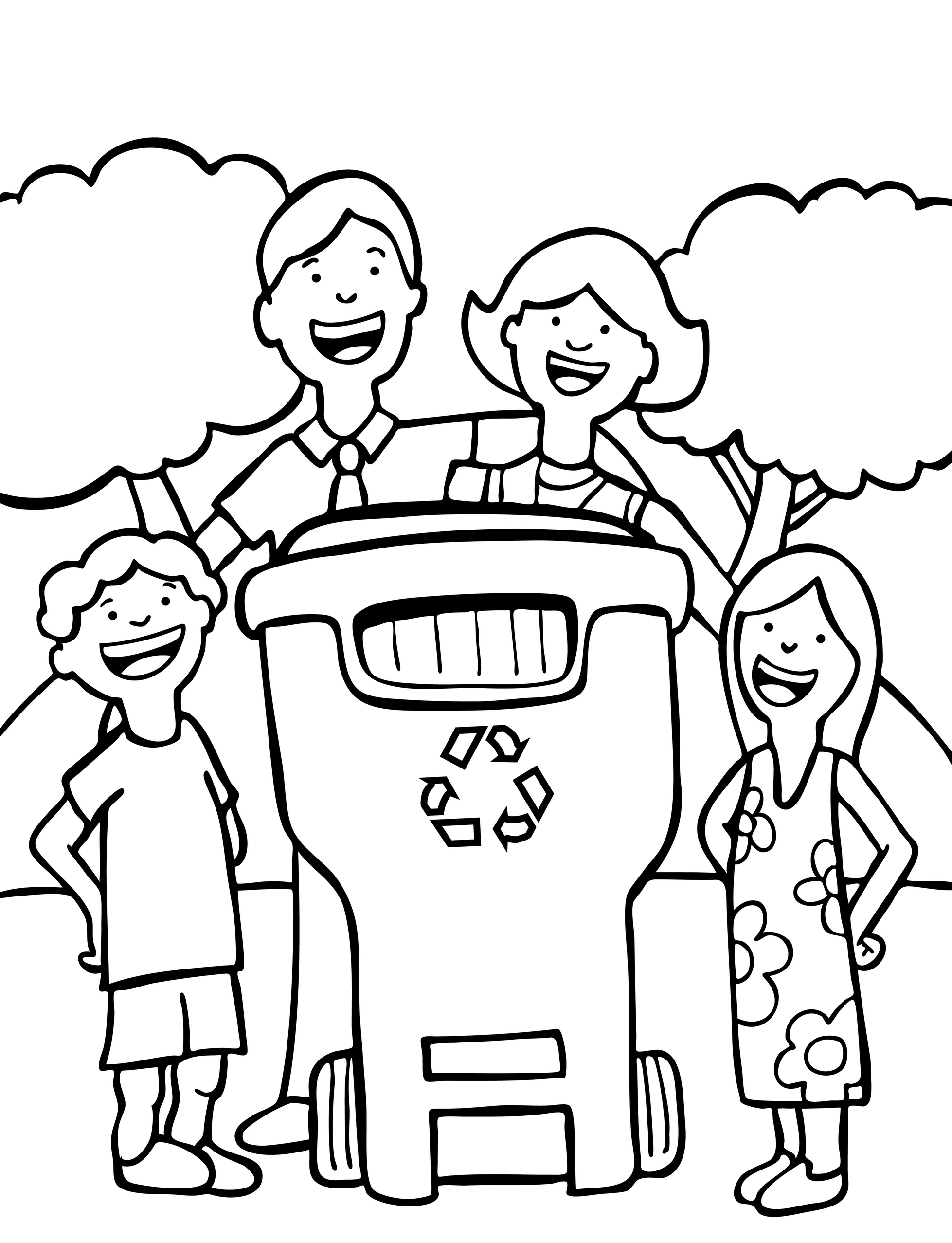 1957x2554 Special Recycling Coloring Pages Activity Colouring Natural