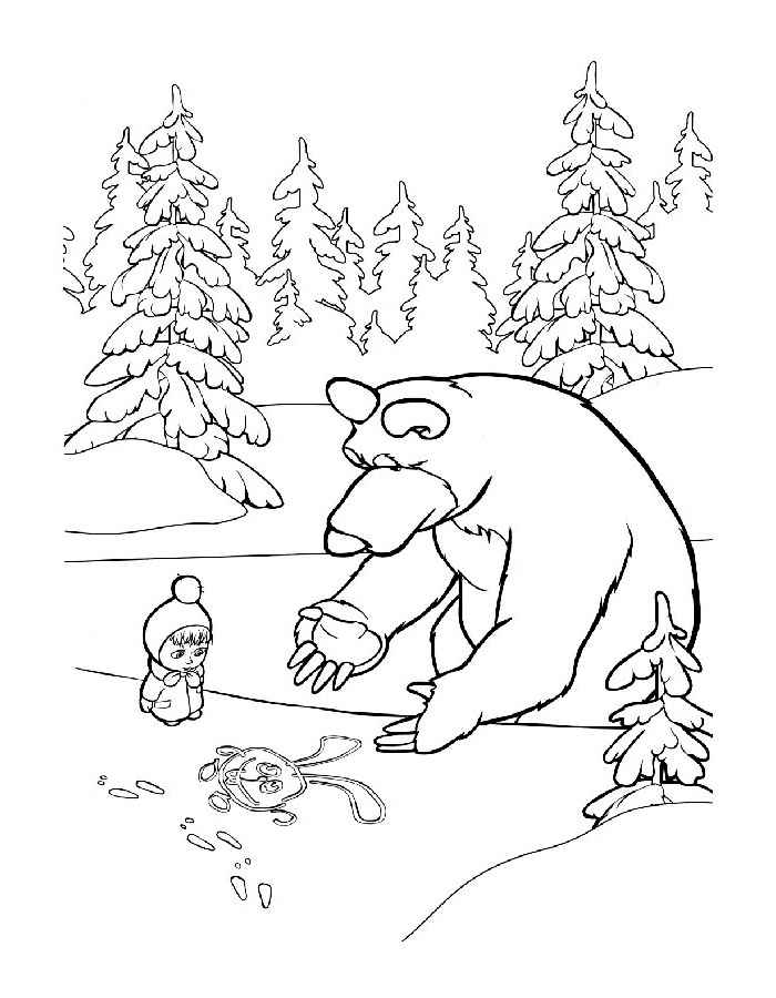 700x900 And Bear Coloring Pages