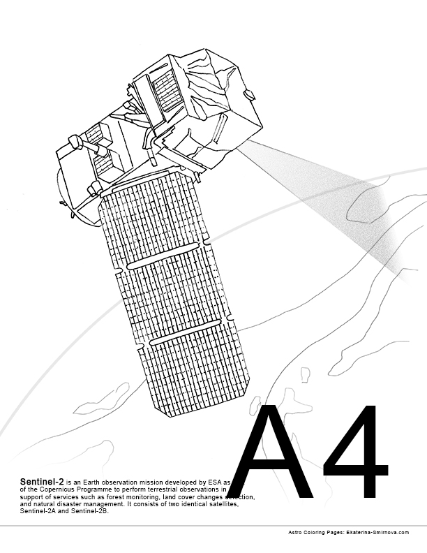 612x792 Coloring Book For Space Missions