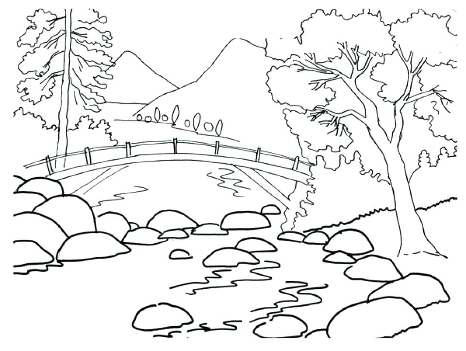 960x723 Nature Coloring Pages Free Printable Nature Coloring Pages Free