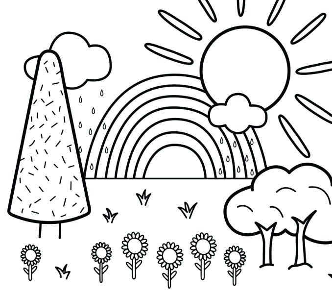 Nature Coloring Pages For Kids at GetDrawings | Free download