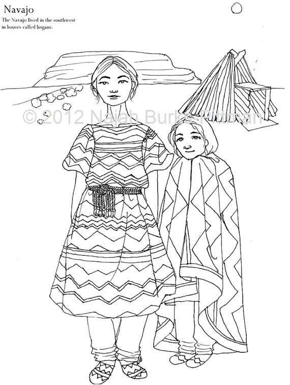 570x757 Navajo Dress Coloring Page Printable Coloring Pages