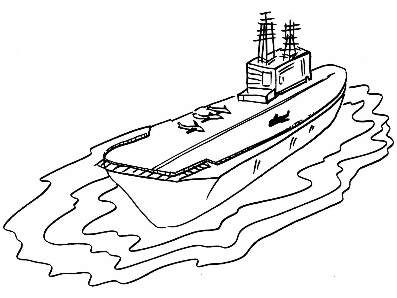 1600x1200 Invincible Class Aircraft Carrier Coloring Page Free Planes