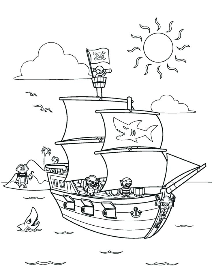 742x960 Pirate Ship Coloring Pages Pirate Ship Coloring Pages The Pirate