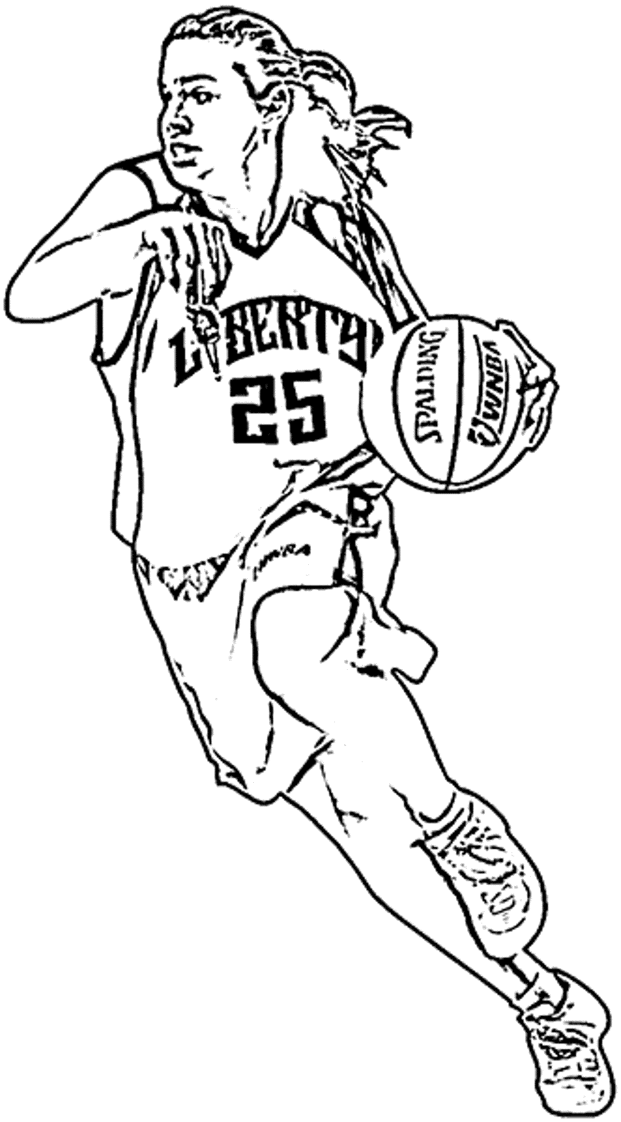 2000x3614 Nba Coloring Pages