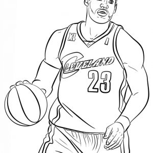 300x300 Nba Coloring Pages Of Lebron James Copy Amazing Lebron James