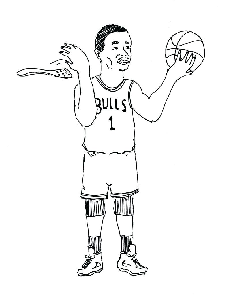 794x1024 Coloring Pages Nba Coloring Pages Top Graphic Basketball Player