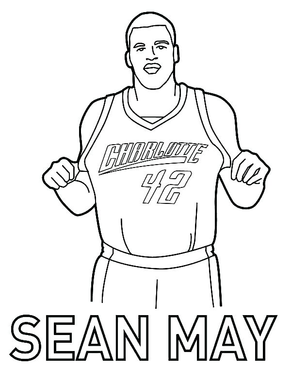 600x760 Coloring Pages Nba Coloring Book And Basketball Players Coloring