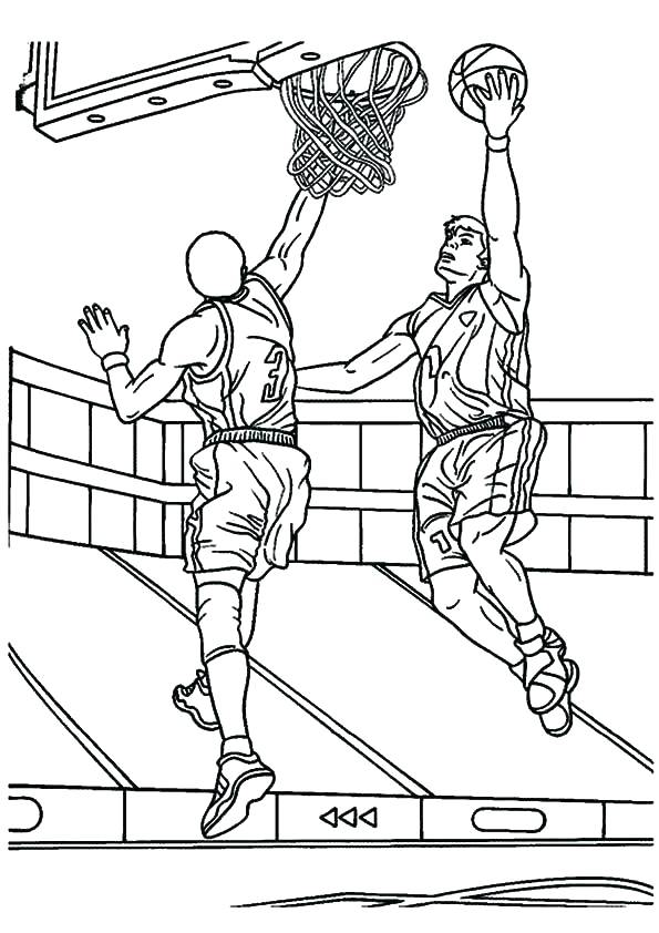 595x842 Basketball Player Coloring Pages Girl Basketball Player Coloring