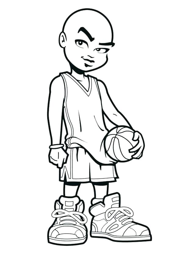 600x847 Basketball Players Coloring Pages Coloring Coloring Book Also Dunk