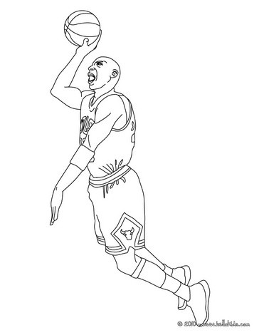 364x470 Basketball Players Coloring Pages