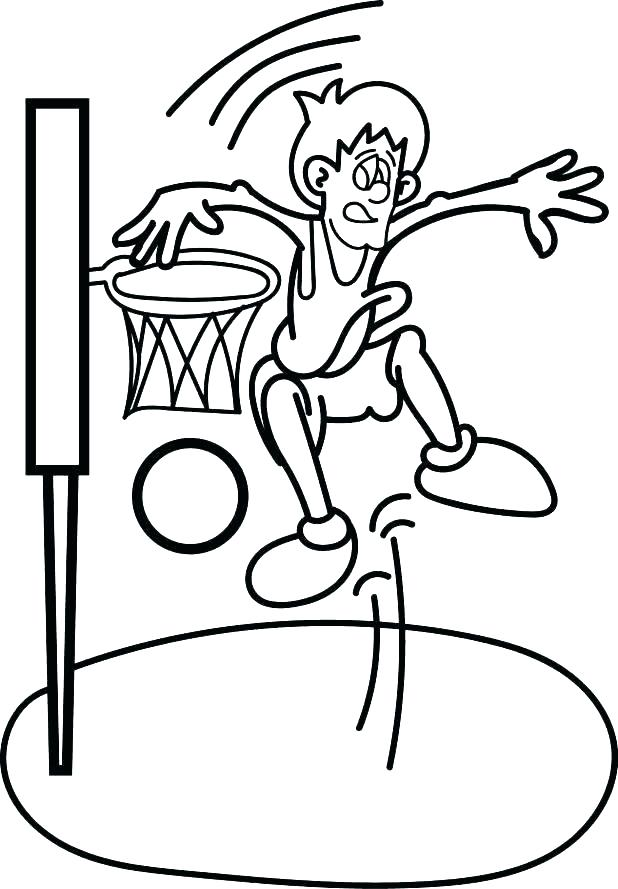 618x889 Coloring Pages Of Basketball Basketball Coloring Sheets Free
