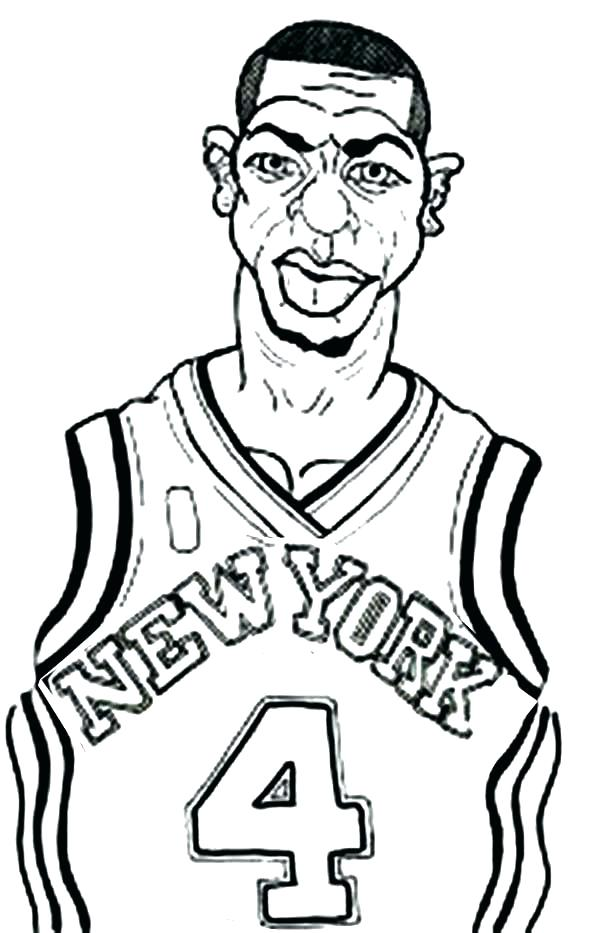 600x933 Nba Players Coloring Pages Players Coloring Pages Full Size