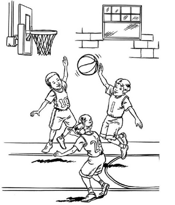 600x703 Basketball Coloring Pages For Kids