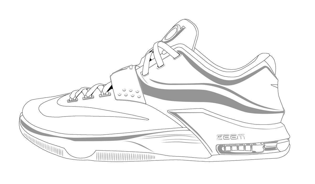 1200x701 Basketball Shoe Coloring Pages
