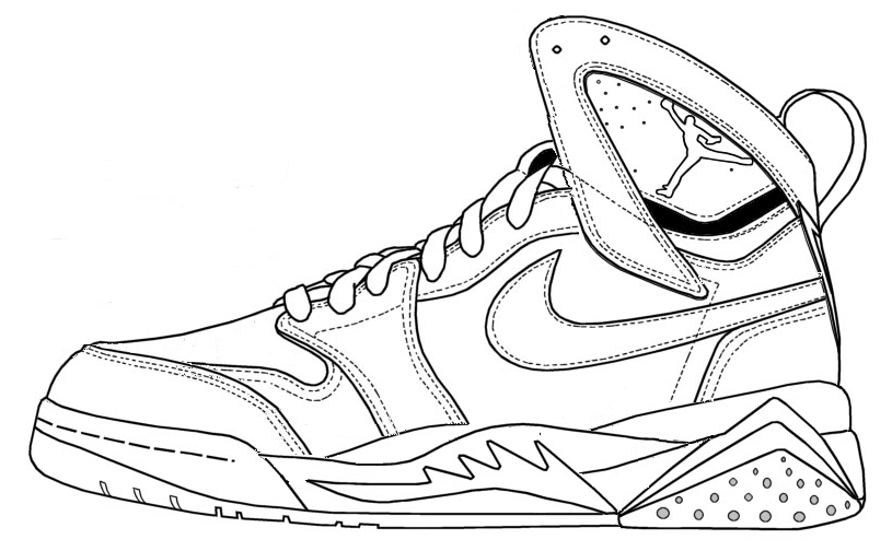 815x504 Michael Jordan Shoe Coloring Pages Jordan Shoe Coloring Page