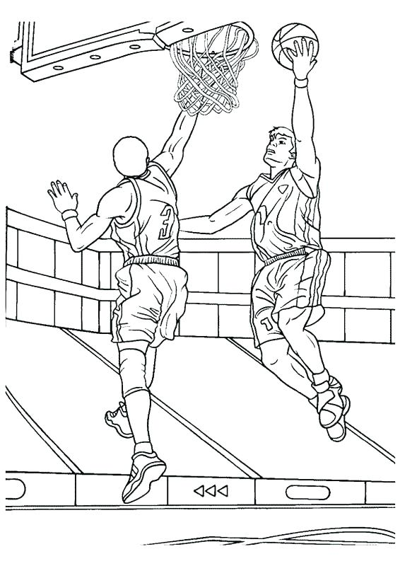 566x800 Basketball Coloring Pages Printable Basketball Shoe Coloring Page