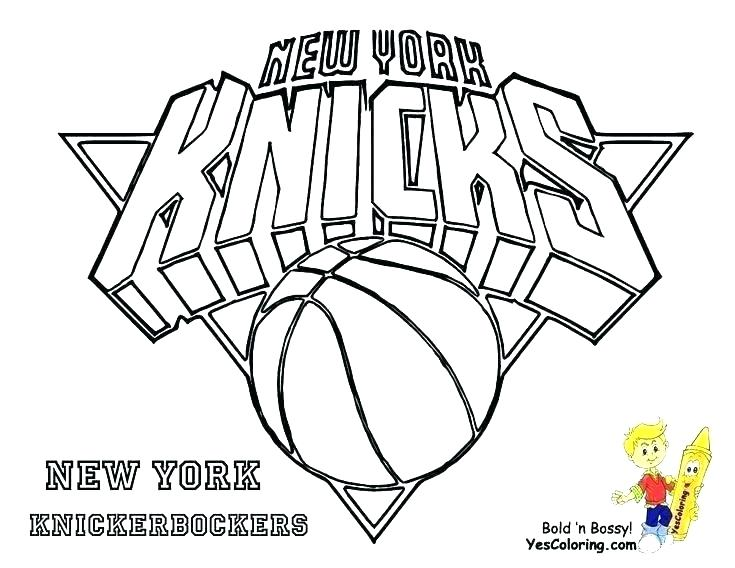 735x568 Nba Logo Coloring Pages Basketball Team Coloring Pages Team Logos
