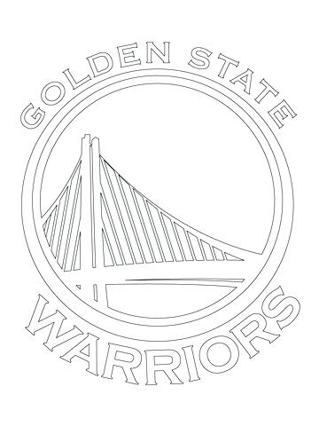 360x480 Nba Logo Coloring Pages Golden State Warriors Coloring Pages Fresh