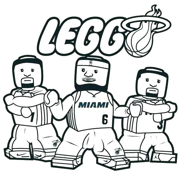 618x605 Printable Coloring Pages Nba Team Logos Basketball Color Page Heat