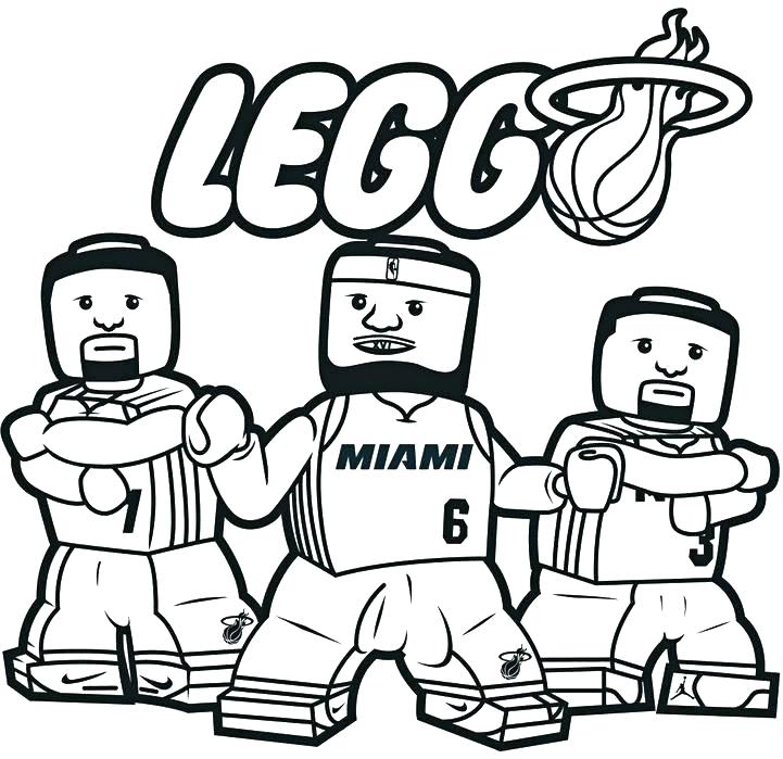 721x699 Nba Logo Coloring Pages