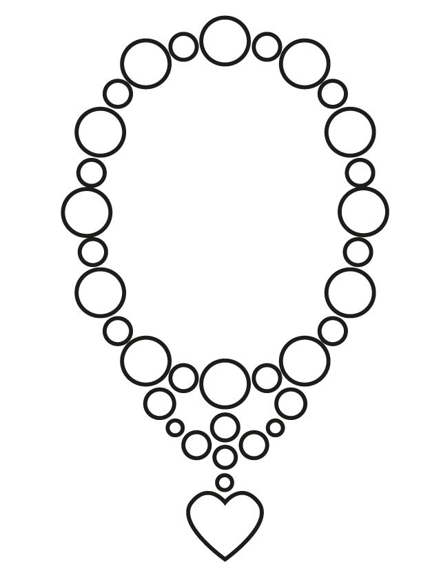 Necklace Coloring Page