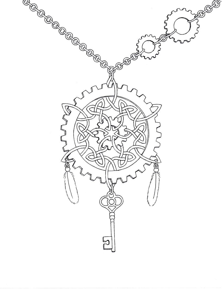 900x1165 Free Steampunk Coloring Pages Steampunk Celtic Knot