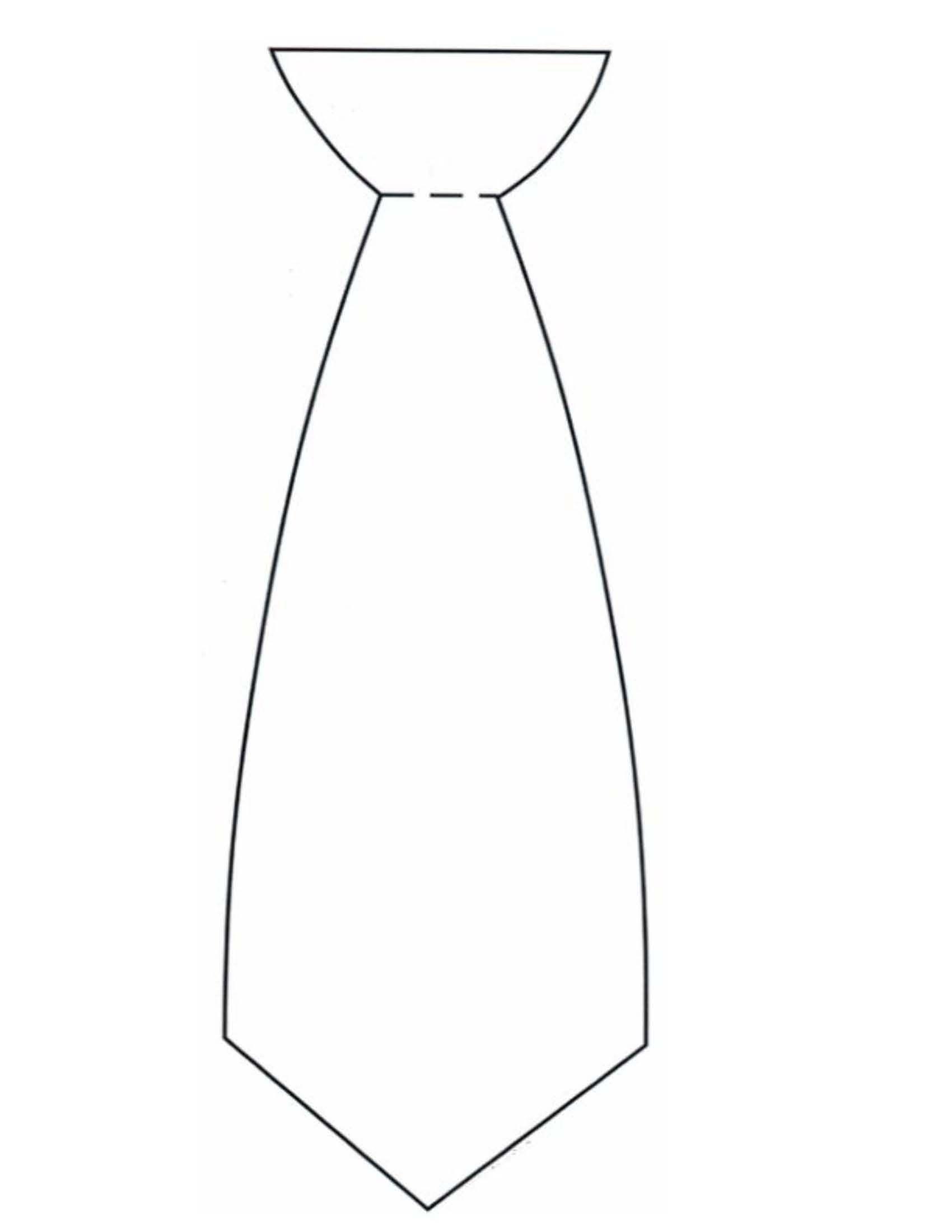 1700x2200 Tie Template Scrapbooking Paper Piecing Template
