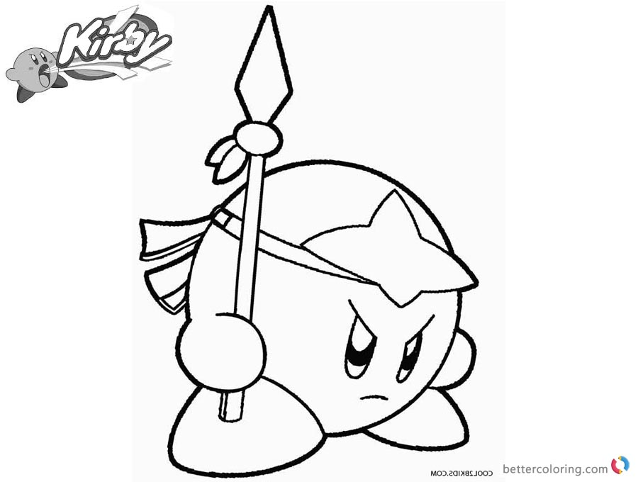 900x680 Kirby Coloring Pages Spear Kirby Picture