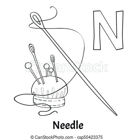 450x470 Letter N Coloring Page Vector Alphabet Letter N Coloring Page