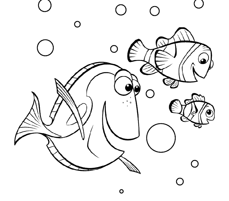 800x700 Dory Coloring Pages Marlin And Dory Coloring Pages Finding Nemo