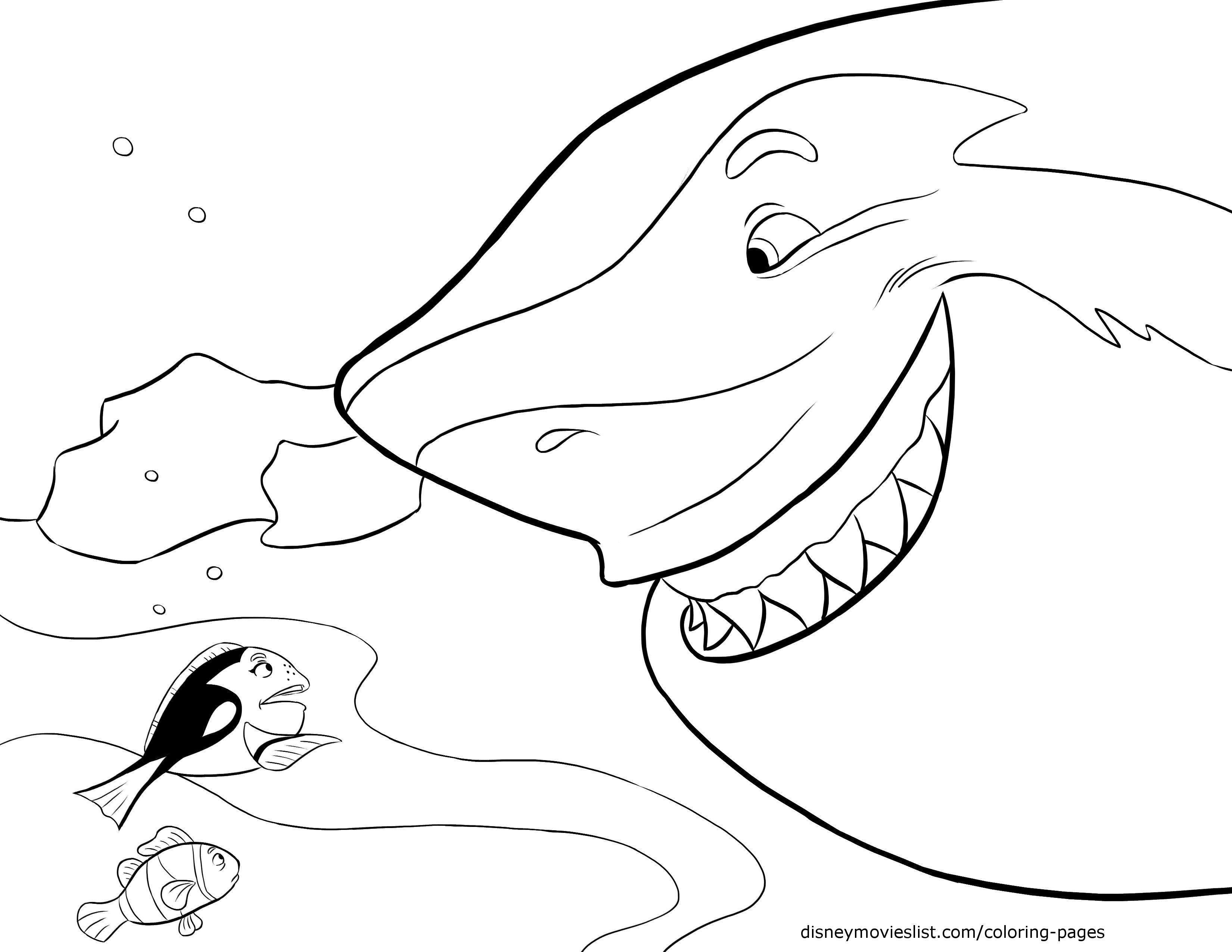3300x2550 Disney S Finding Nemo Coloring Pages Sheet Free Disney Printable