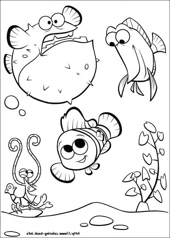 567x794 Finding Nemo Coloring Page And Disney Coloring Page Coloring