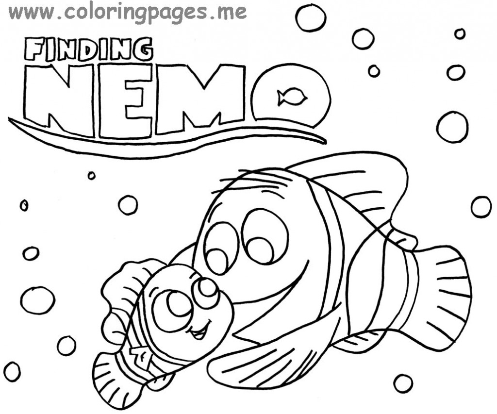 1024x853 Great Finding Nemo Coloring Pages At Finding Nemo Coloring Pages