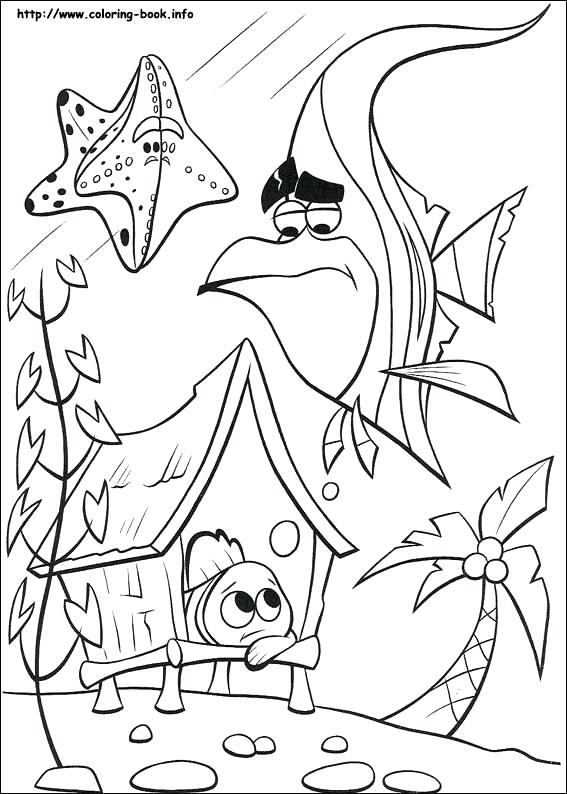 567x794 Nemo Coloring Pages Finding Coloring Picture Finding Nemo Coloring