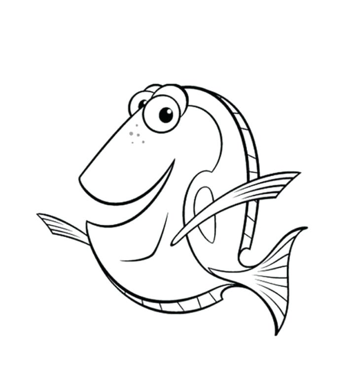 700x767 Finding Nemo Coloring Pages Free