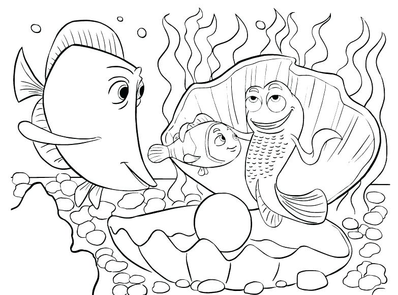 783x582 Coloring Pages Nemo Coloring Pages Finding Wants To Eat Dory