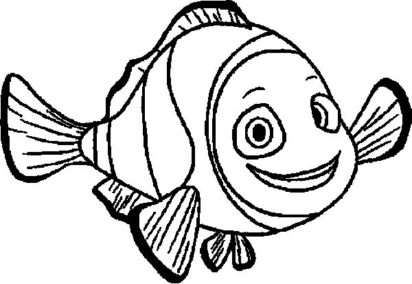 600x413 Finding Nemo Marlin Smile Finding Nemo Coloring Pages