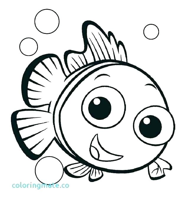 600x686 Nemo Color Pages Finding Color Pages Finding Coloring Page Finding