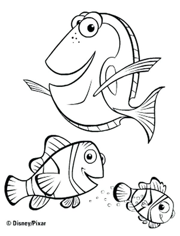 600x784 Nemo Printable Coloring Pages Coloring Pages Finding Nemo