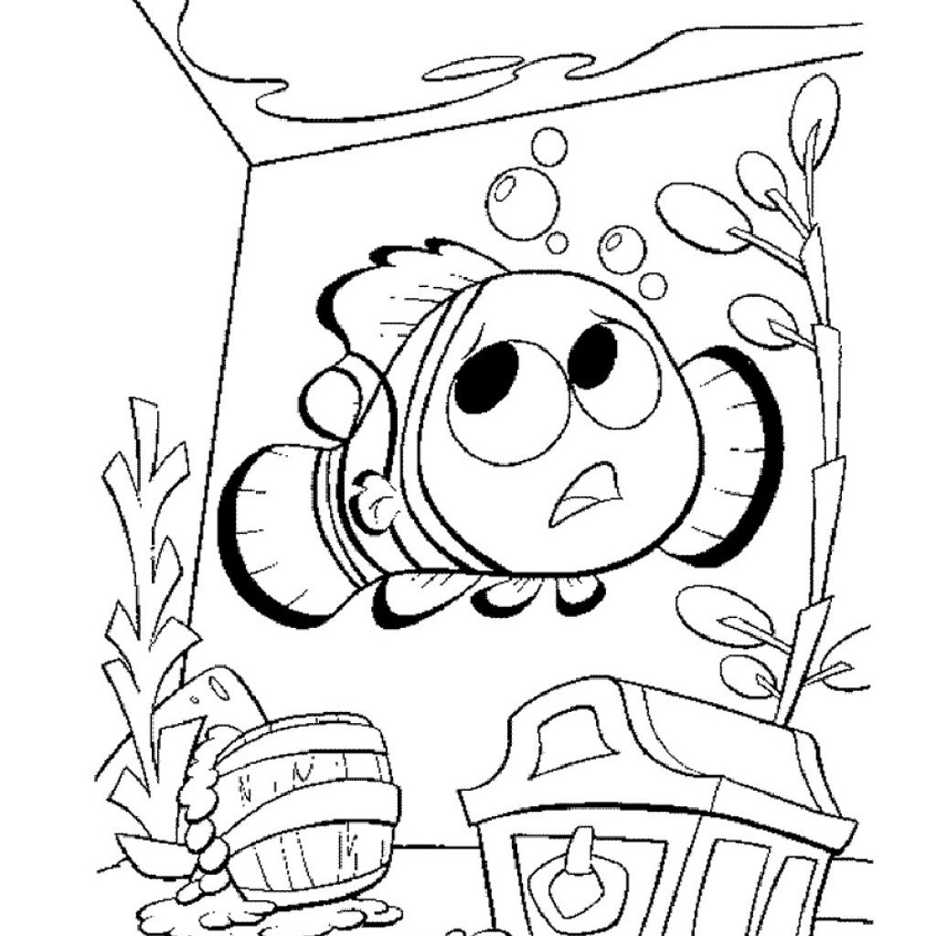 1024x1024 Printable Nemo Coloring Pages Coloring Me