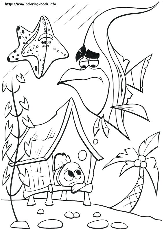567x794 Finding Coloring Picture Coloring Book Finding Nemo Printable
