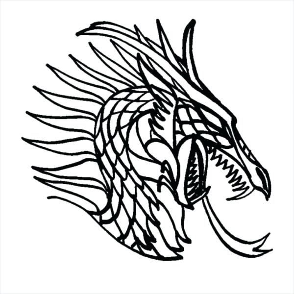 600x600 Dragon Art Coloring Pages Dragon Head Coloring Page Neon Dragon