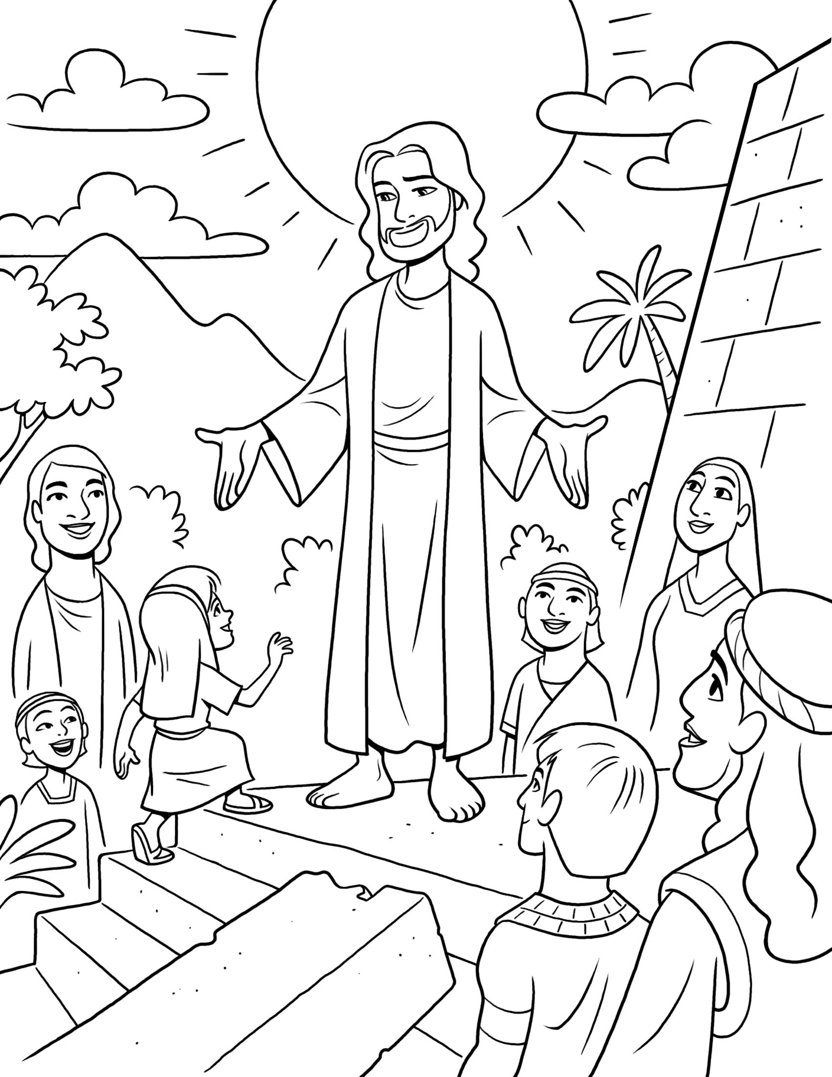 1700x2200 Book Of Mormon Stories This Is A Fun Coloring Page Of Jesus