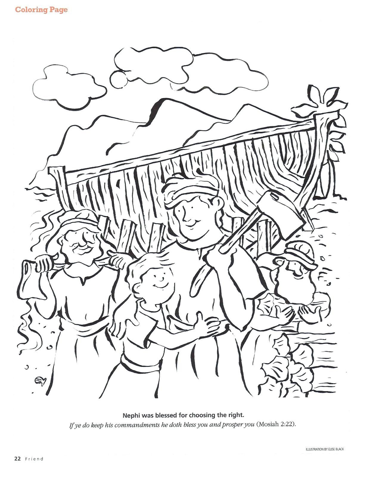 1225x1600 Wonderful Book Of Mormon Coloring Pages Nephi Builds A Boat Page