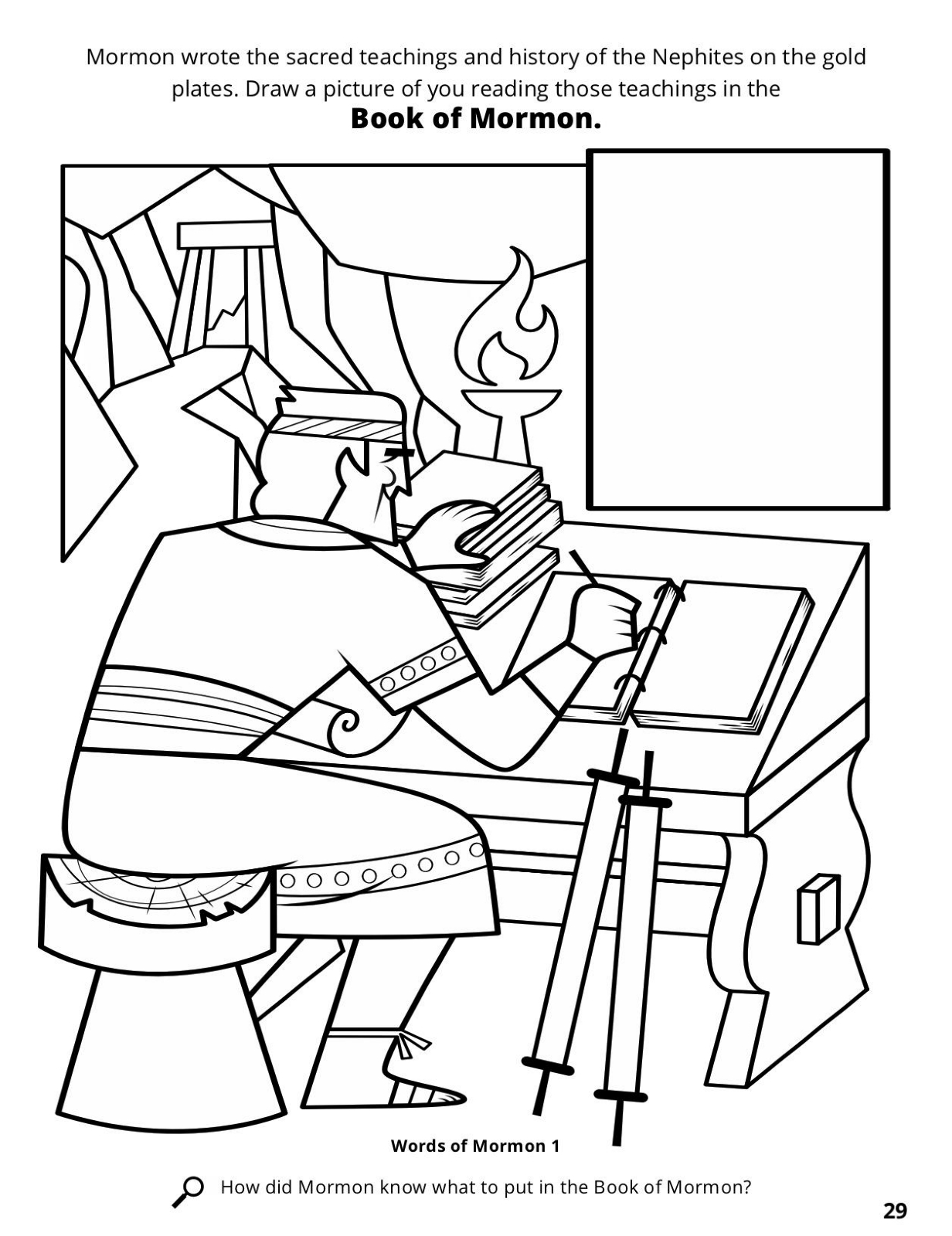 1232x1600 Full Book Of Mormon Coloring Pages Compiles Sacred Writings