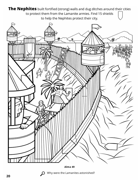 591x768 Book Of Mormon Coloring Pages New Jesus Appears To The Nephites