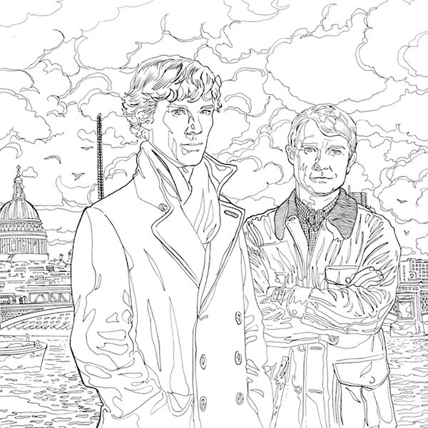 600x600 Geeky Coloring Books For Adults Sherlock And Coloring Books