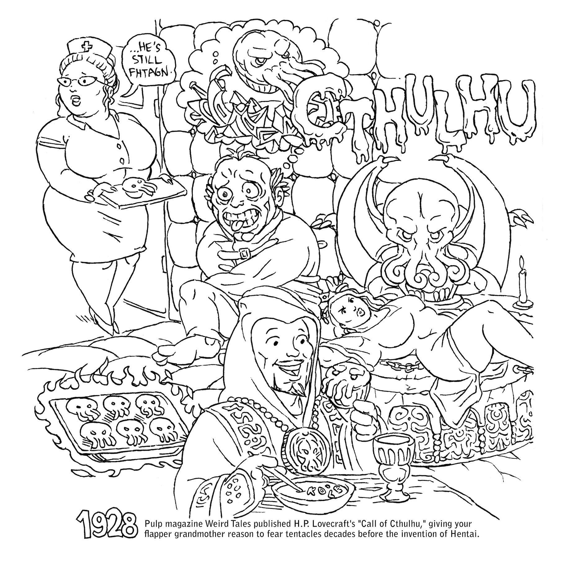 1815x1815 Simplistic Geek Coloring Pages Color In These